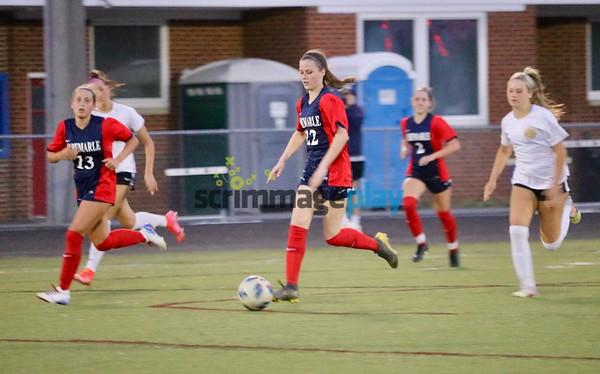 Albemarle girls soccer versus Monticello 2021