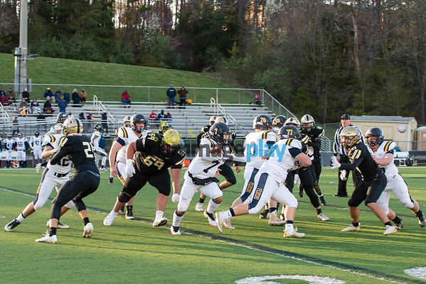 Monticello versus Fluvanna football spring 2021