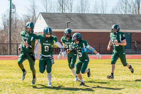 William Monroe versus Warren spring 2021 football