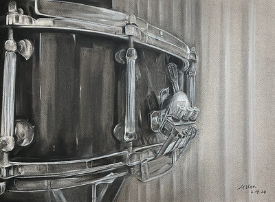 """A Drum Hanging On The Wall"" by Allen Wang '22"