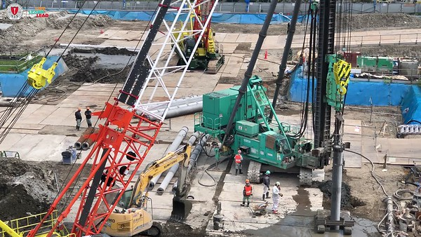New Campus Construction - Pile Insertion