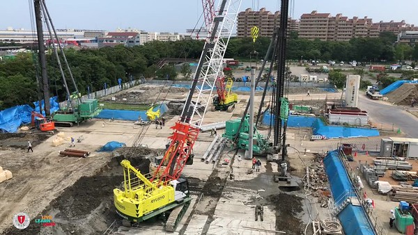 New Campus Construction - Pile Boring and Insertion