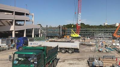 Construction in progress October 16, 2020.