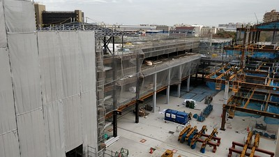 View of the eventual HUB space area in the North Building.