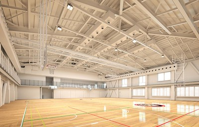 Working rendering of the interior of the gym.