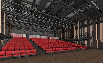 Working rendering of the interior of the auditorium.