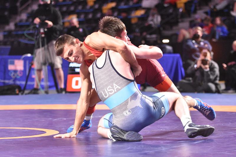 Championship Match<br /> 57 Vitali Arujau Syosset, NY (TMWC / Spartan Combat WC) VSU1 Dylan Ragusin IL (Cliff Keen Wrestling Club-RTC), 13-3