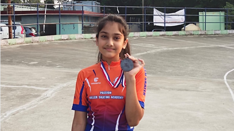 Aashaka Lod wins Bronze at 7th Annual Hyderabad District Roller Skating Speed Championship