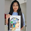 Hitisha bags 4th position internationally in the Global Art Singapore Contest!