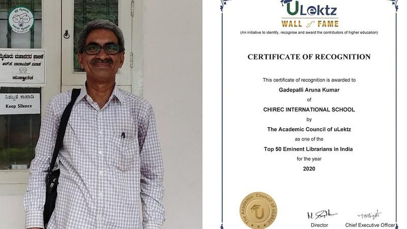 Arun Kumar recognized among the Top 50 Eminent Librarian