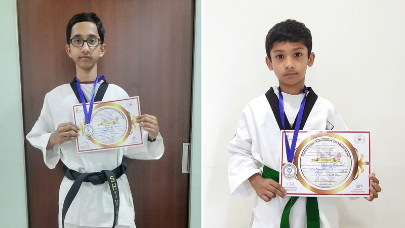Shivaansh Aggarwal of Stage 9D and Ahaan Aggarwal of Stage 4C bag Silver medals