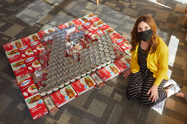 2020 UWL Art Spire Canstruction Food Donation 0024