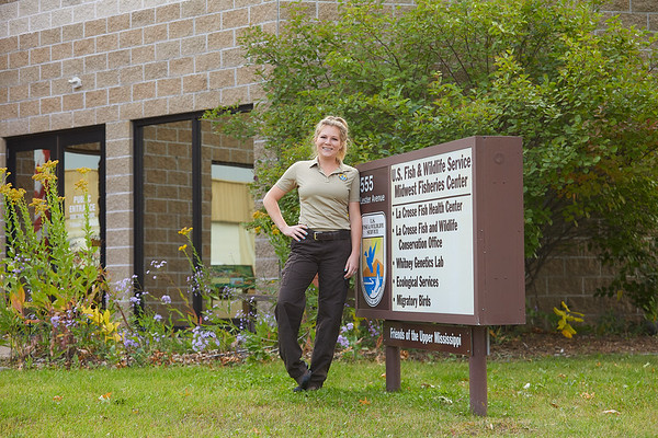 2020 UWL McNair Alumni Scholar Sara Dziki U S  Fish and Wildlife Lab 0021