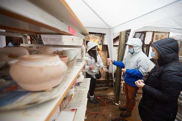 2020 UWL Art Ceramics Woodfired Kiln 0109