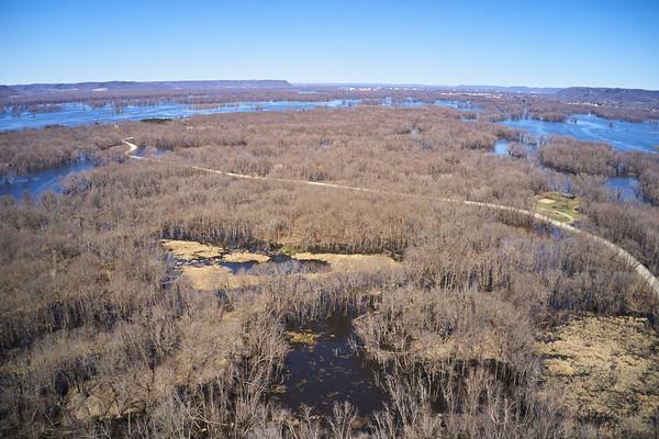 2019 UWL Drone Floodplain Forest Goose Island Park 0001