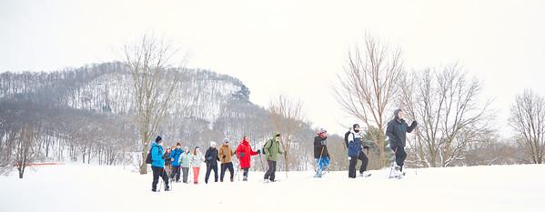 2019 UWL Spring Snowshoeing Class 0041