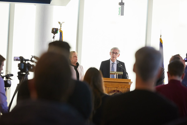 2019 UWL Spring Tony Evers PSSC Building Commission 0038