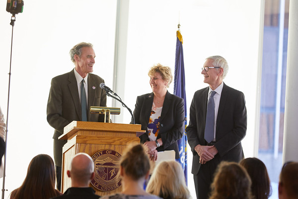 2019 UWL Spring Tony Evers PSSC Building Commission 0074