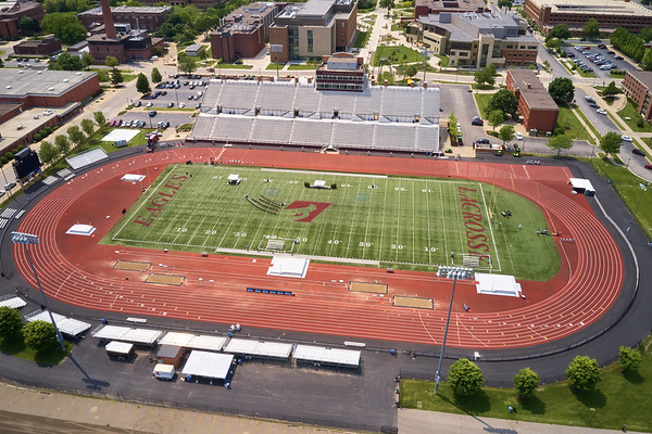 2019 UWL WIAA State Track Roger Harring Field Facilities Drone 0060