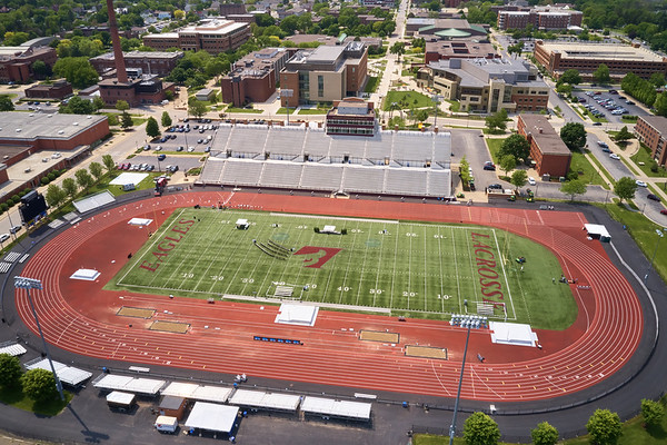2019 UWL WIAA State Track Roger Harring Field Facilities Drone 0061