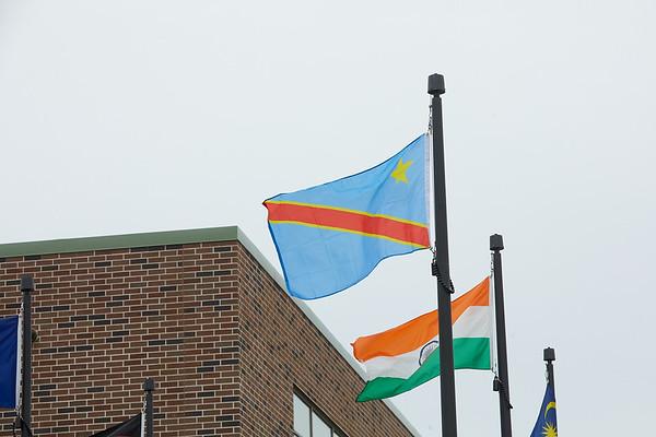 2020 UWL Vanessa Mbuyi Democratic Republic of Congo Flag Raising  0125