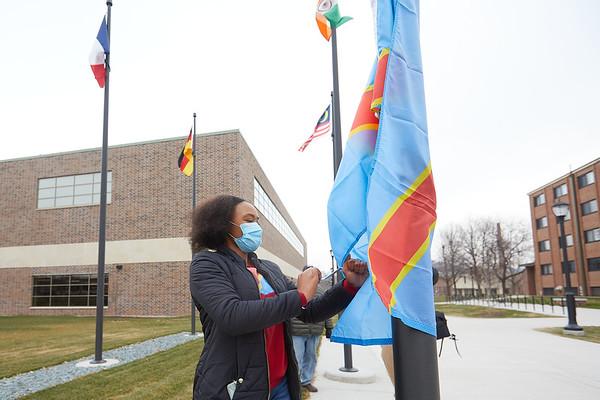 2020 UWL Vanessa Mbuyi Democratic Republic of Congo Flag Raising  0040