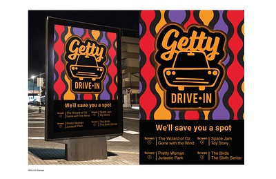 "Megan Polacek (faculty: Joan Sechrist) - ""Getty Drive-In Rebrand Campaign"" (Integrated Brand Identity Campaign)"