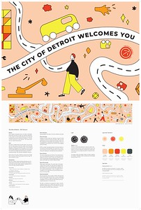 "Alison Young (faculty: Joan Sechrist) - ""The City of Detroit: Highway Mural"" (Illustration)"