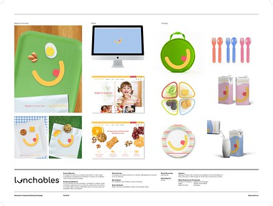 """Seiarra Schrum (faculty: John Koziatek) - """"Lunchables Rebrand"""" (Integrated Brand Identity Campaign)"""