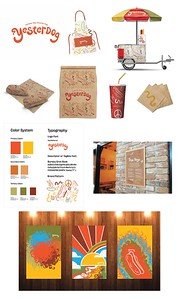 "Carrie Scheffler (faculty: Angela Dow, John Koziatek) - ""Yesterdog"" (Integrated Brand Identity Campaign)"