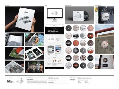 "Caitlyn Straley (faculty: Suzanne Jonkman, John Koziatek) - ""Filter"" (Integrated Brand Identity Campaign)"