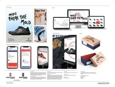 "Jasmyne Schierbaum (faculty: Lydia VanHoven-Cook) - ""Skechers Rebrand (Integrated Brand Identity Campaign)"