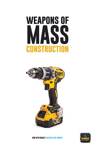 "Sam Mrdeza (faculty: Joan Sechrist) - ""Weapons of Mass Construction"" (Single Ad)"