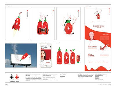 "Jinyu He (faculty: Lydia VanHoven-Cook) - 	""Sriracha Integrated Campaign"" (Integrated Brand Identity Campaign)"