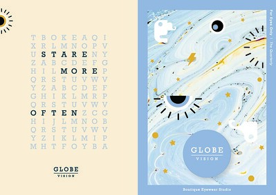 "Alison Young (faculty: Joan Sechrist) - ""Globe Vision - Brand Identity"" (Integrated Brand Identity Campaign)"
