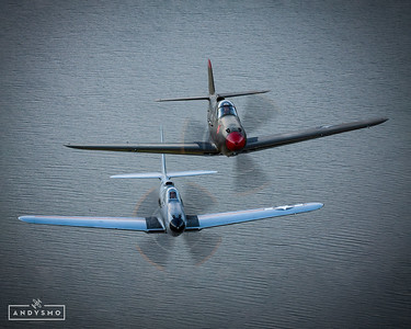 Two Cobras Over lake Grapevine