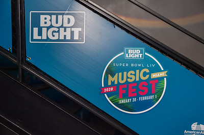 MIAMI, FL - JANUARY 31: Bud Light Superbowl LIV Music Fest at the American Airlines Arena on Friday, January 31, 2020 in Miami, FL, USA. (Photo by Aaron J. / RedCarpetImages.net)