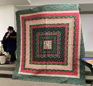 Chelane Priller showed us a quilt that was pieced by her mother.
