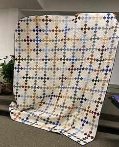 Ruby Freed showed us a king-sized nine pitch quilt.