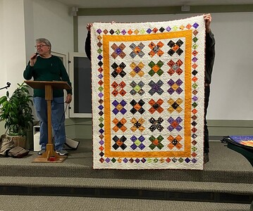 """John also finished a halloween quilt that he said was called Halloween Card Trick"""""""