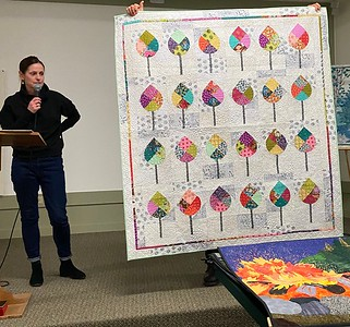 Peg Largo told us that she was very excited about this quilt as it reminded her of the trees on the Champs-Élysées in Paris.