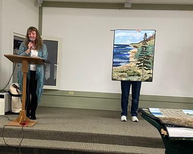 "Susan Kruszynski (landscape artist) from Muskegon - ""story quilts"""
