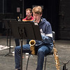 Jazz Ensemble class rehearsal at SUNY Buffalo State College.