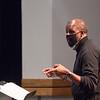 Professor Ricky Fleming conducting Jazz Ensemble class rehearsal at SUNY Buffalo State College.