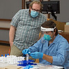 Faculty and staff COVID-19 pool testing at SUNY Buffalo State College.