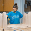 Students working in Associate Professor Sunhwa Kim's DES 250 Wood Design I class at SUNY Buffalo State College.
