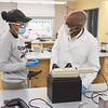 Students working in Lecturer Garth Gibson's CHE 203 Organic Chemistry Laboratory I class at SUNY Buffalo State College.