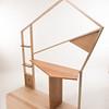 Susan Koloski's award-winning desk, from Associate Professor Sunhwa Kim's Wood Design II class at SUNY Buffalo State College.