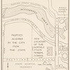Map of the new location of the normal school and vicinity for 150th anniversary of SUNY Buffalo State College.