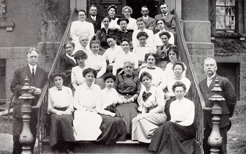 Photo of 1913 faculty group for 150th anniversary celebration at SUNY Buffalo State College.